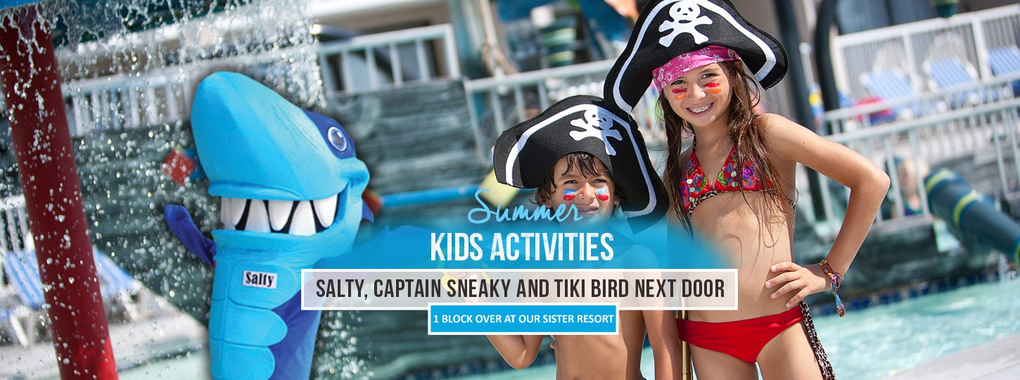 summer kids actvities at hotel blue myrtle beach