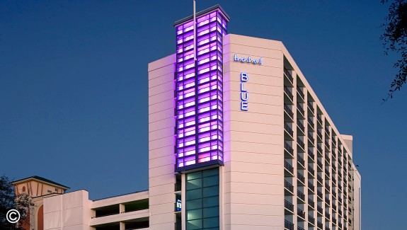 "hotel BLUE ""Goes Pink"" for Breast Cancer Awareness Month"