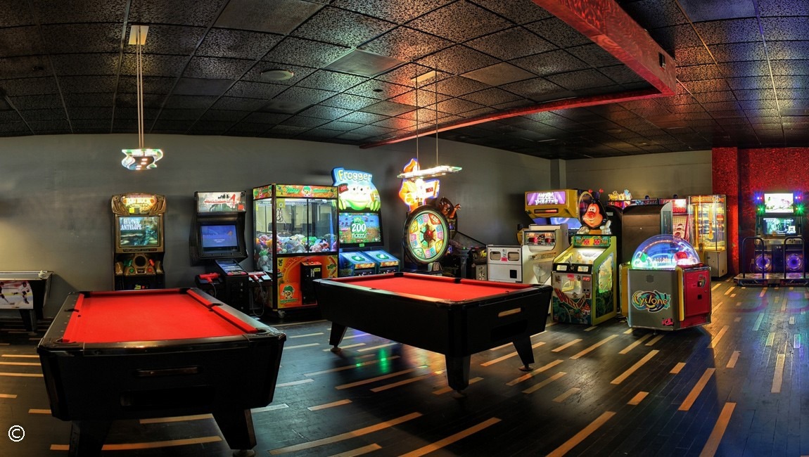 Bowling alley arcade at Captain's Quarters