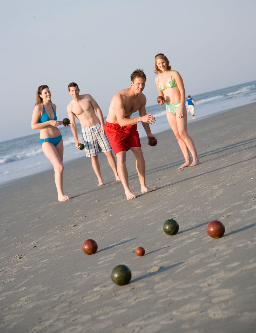 Bocce Ball at the beach in Myrtle Beach, SC