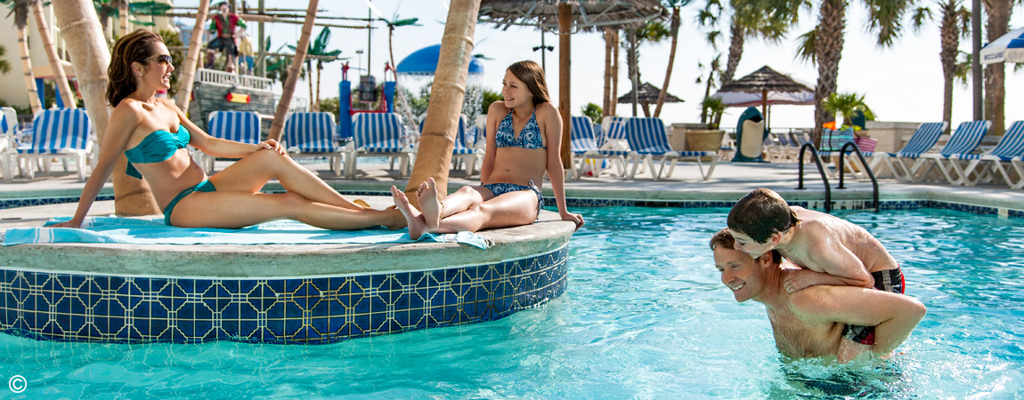 Captain's Quarters Resort outdoor pool options