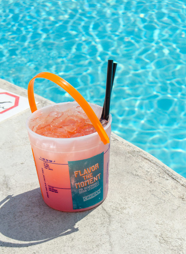 poolside drink at therapy pool party myrtle beach
