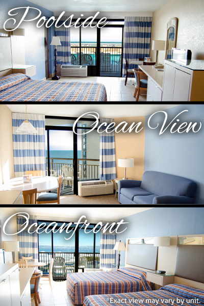 Poolside Ocean View And Oceanfront Views At Hotel Blue
